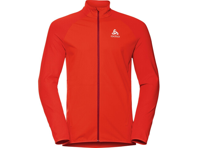 Odlo Zeroweight Warm Hybrid Jacket Men orange.com